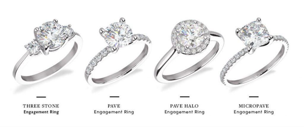 different types of accent diamonds and styles