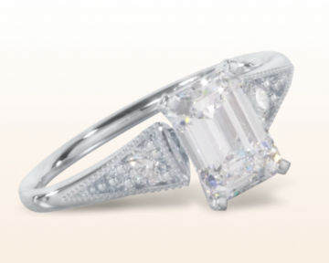 art deco engagement rings heirloom milgrain diamond