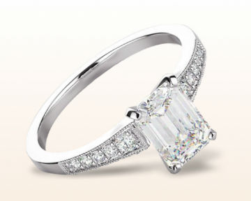 art deco engagement rings milgrain diamond