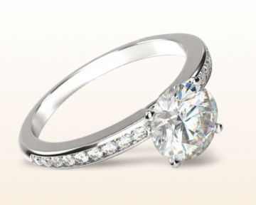 dainty engagement rings channel set diamond