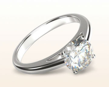 dainty engagement rings classic cathedral solitaire