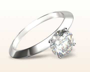 dainty engagement rings knife edge solitaire