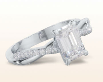 emerald cut engagement rings three stone tapered baguette
