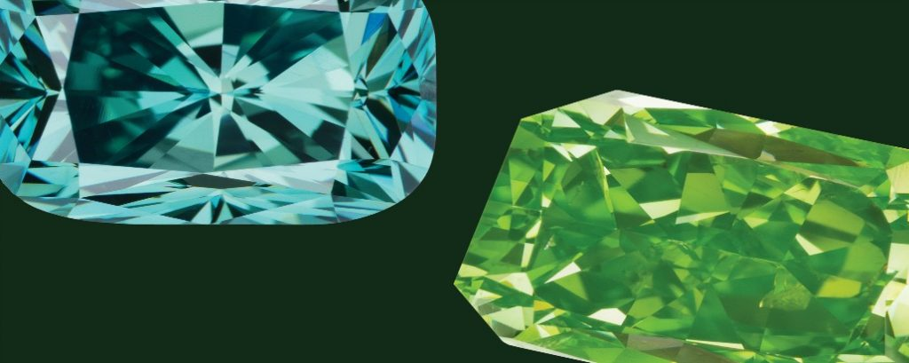 green diamonds on green background