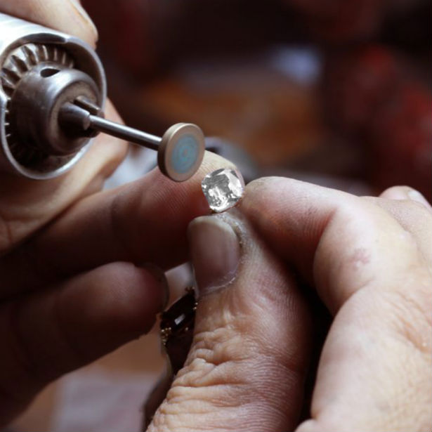 how are diamonds cut expert polishing a stone
