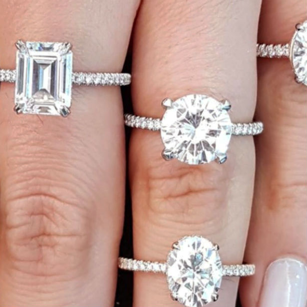 most expensive diamond cut many rings on fingers