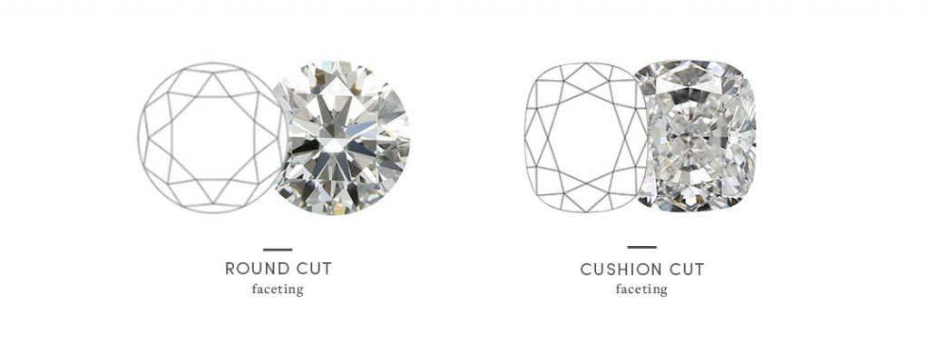 round vs cushion faceting