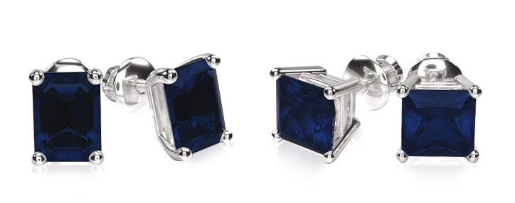 sapphire stud earrings emerald vs princess