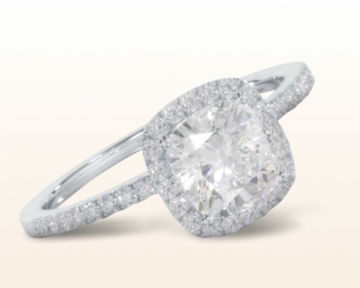 square halo engagement rings cushion pave diamond
