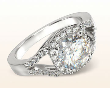 square halo engagement rings split shank