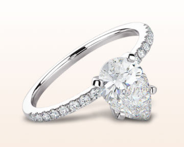 pear shaped engagement rings classic pave