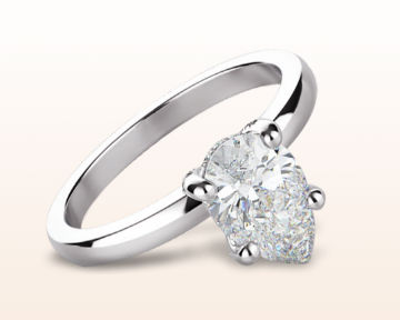 pear shaped engagement rings diamond basket solitaire