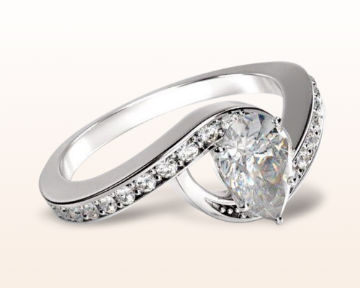 pear shaped engagement rings twisting underhalo