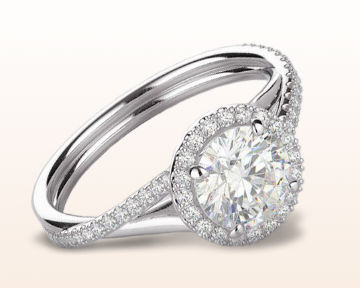 twisting engagement rings diamond halo