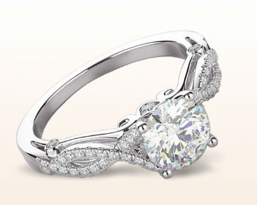 twisting engagement rings grace