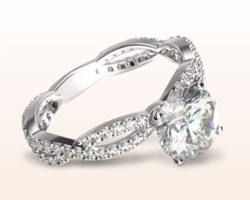 twisting engagement rings infinity winding