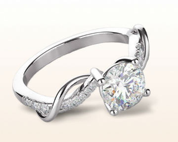 twisting engagement rings open criss cross