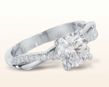 twisting engagement rings vine