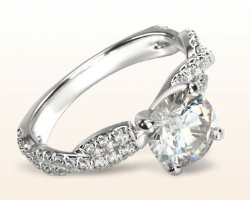 twisting engagement rings winding diamond