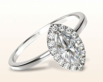 unusual engagement rings marquise plain shank halo