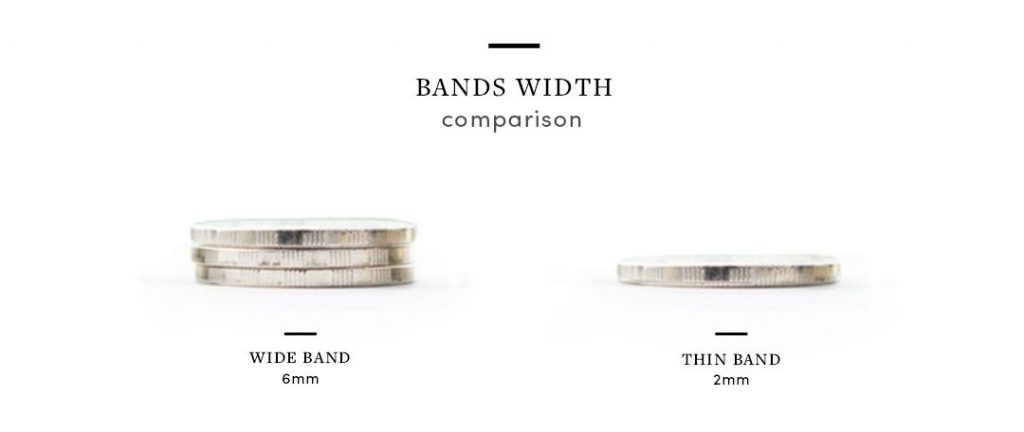 wide band engagement rings band width comparison