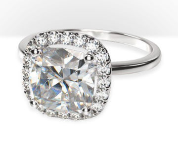 cushion cut halo engagement rings plain shank