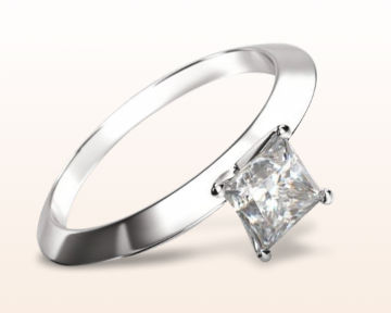 dainty engagement rings knife edge solitaire diamond