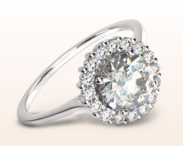 Engagement Rings for Doctors Plain Shank Halo