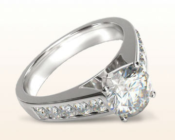 engagement rings for nurses channel set Cathedral