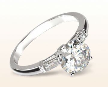 engagement rings for nurses Three Stone Baguette Diamond