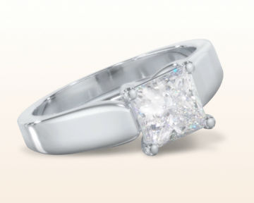 engagement rings for nurses Trellis Princess Solitaire