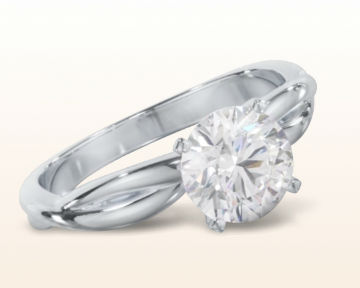 engagement rings for nurses Twisting Solitaire Diamond