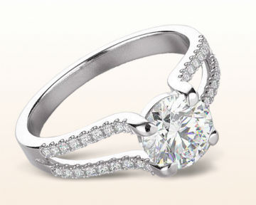 floating diamond engagement rings split shank