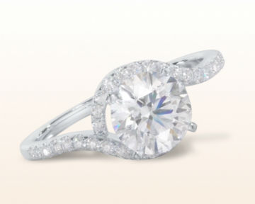floating diamond engagement rings tapered halo