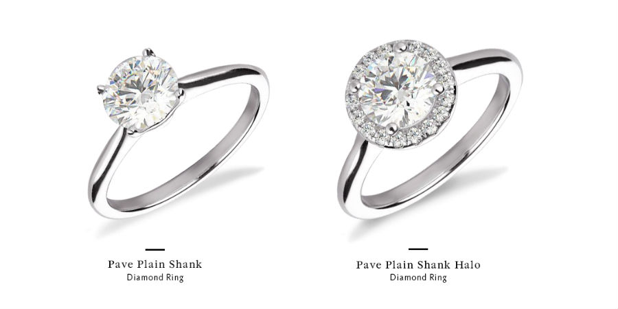 how to buy an engagement ring on a budget by getting a bigger looking stone with a halo