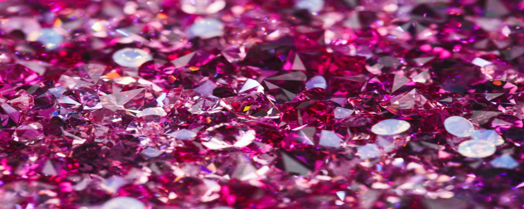 mass of pink diamonds