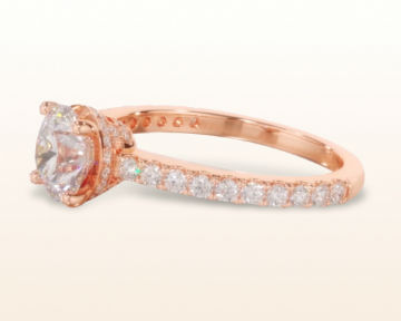 rose gold halo engagement rings crown diamond
