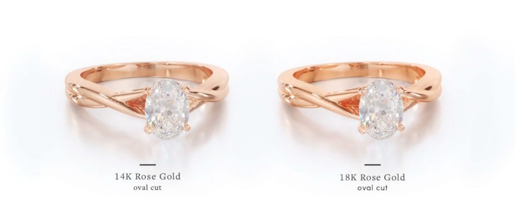 Rose Gold Oval Engagement Rings Balacing Vintage And Modern Flair