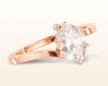 rose gold oval engagement rings flourish solitaire