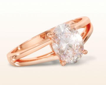 rose gold oval engagement rings split shank solitaire