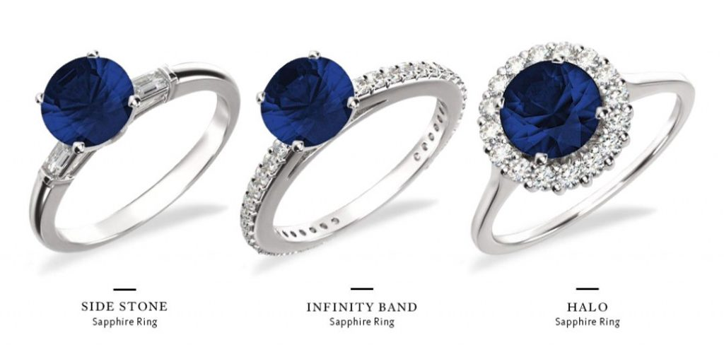 sapphire and diamond engagement ring styles