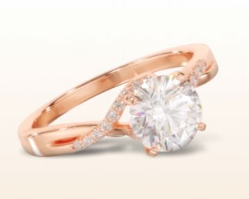 simple rose gold engagement rings classic bypass