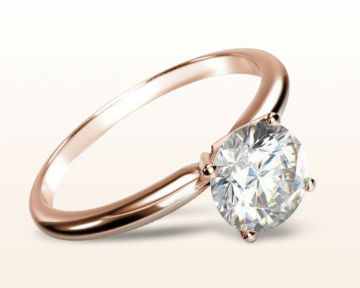 simple rose gold engagement rings classic four prong