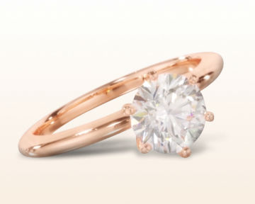 simple rose gold engagement rings classic six prong
