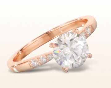 simple rose gold engagement rings enchant diamond