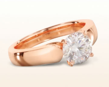 simple rose gold engagement rings open cathedral