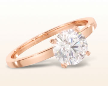 simple rose gold engagement rings petite solitaire