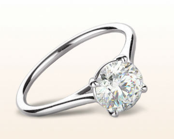 thin band engagement rings poise basket