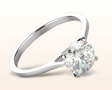 thin band engagement rings sleek cathedral solitaire