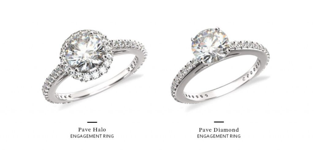 what is a pave setting halo nohalo